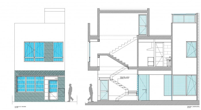 Abla arquitectura proyectos obras realizadas - Vivienda entre medianeras ...